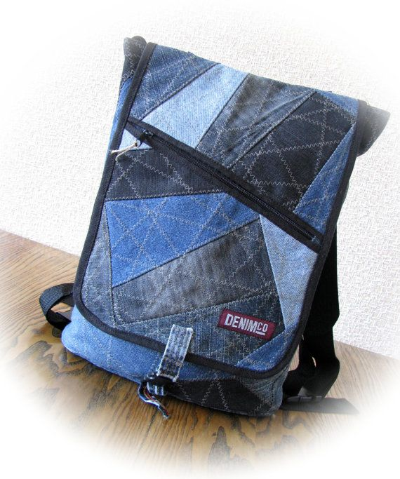 mochila de jean mochila de mezclilla pantalones por. Black Bedroom Furniture Sets. Home Design Ideas