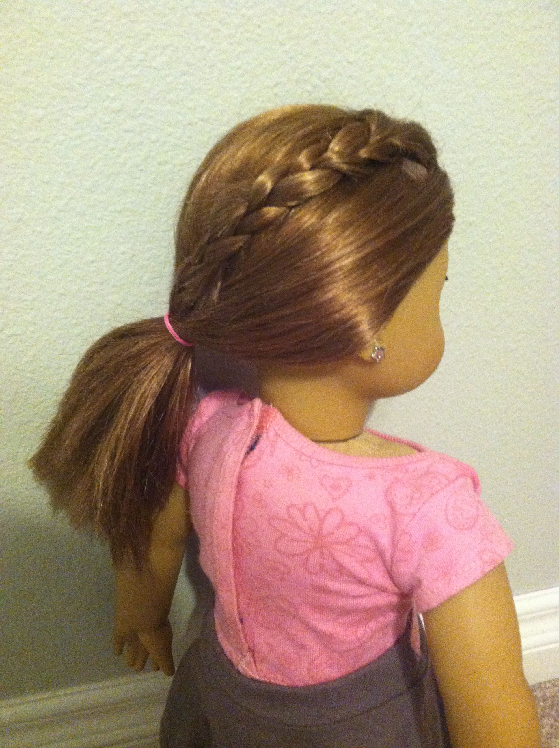 American girl (braid in to side pony) hairstyle! (On Claire)