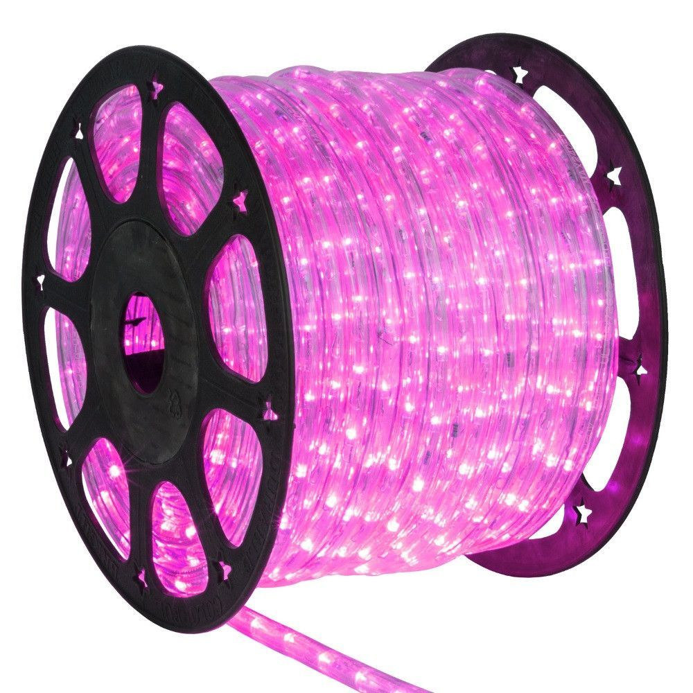 1 2 Inch 150 Ft Led Pink Rope Light Led Rope Lights Rope Light Outdoor Rope Lights
