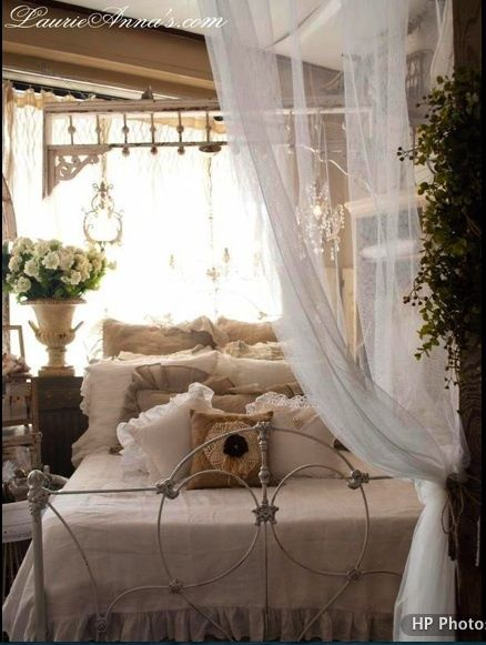 Shabby Cottage Bliss...Bedroom Decor Ideas! See thefrenchinspiredroom.com