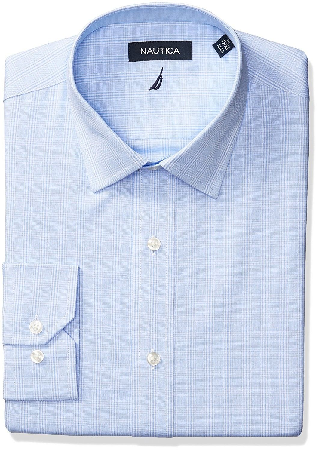 40b7fd1199f Men s Plaid Spread Collar Dress Shirt - Light Blue - CG17YCNAL6N in ...