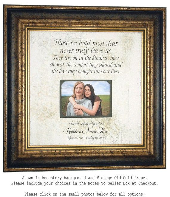 In Memory Of Mom, Remembrance Quote, Wedding Memorial Gift ...