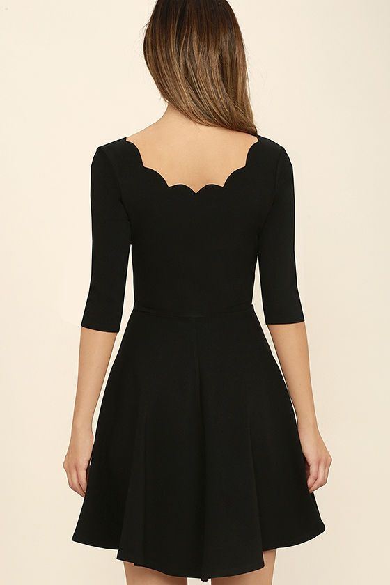 37+ Black dress with scalloped neckline inspirations