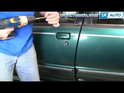How To Install Repair Replace Exterior Door Handle Ford Explorer 98 04 1 Exterior Door Handles Ford Explorer Replace Exterior Door
