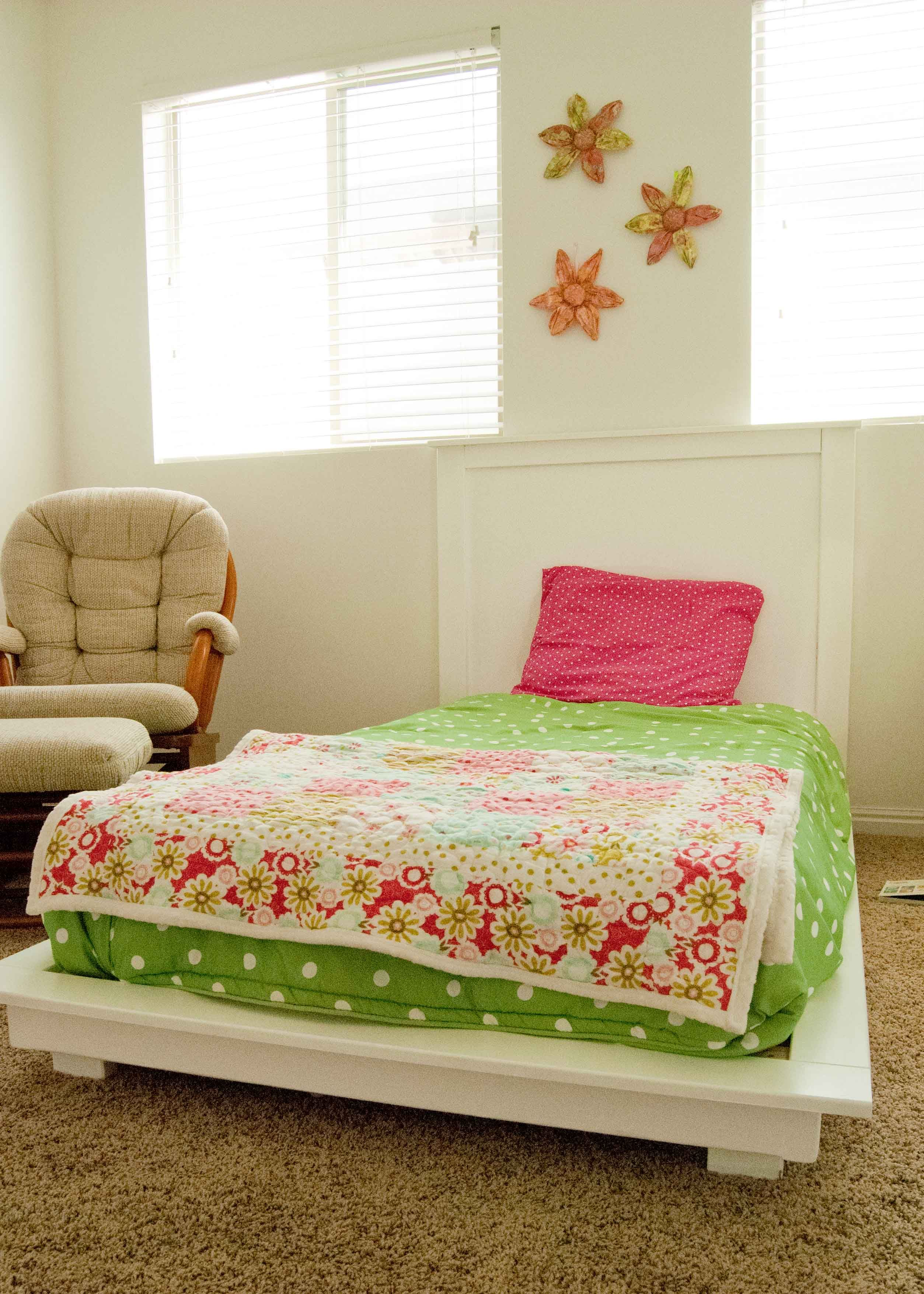 White Twin Platform Bed Do It Yourself Home Projects