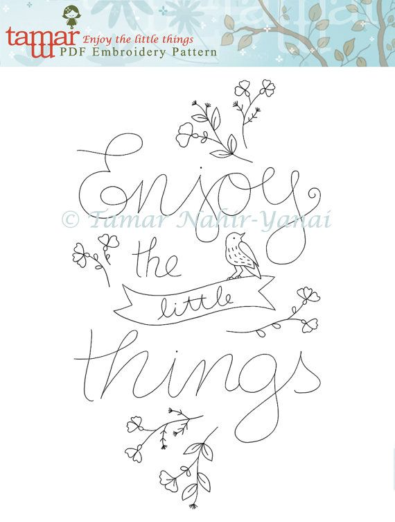 PDF File, Inspirational quote printable - Enjoy the little things ...
