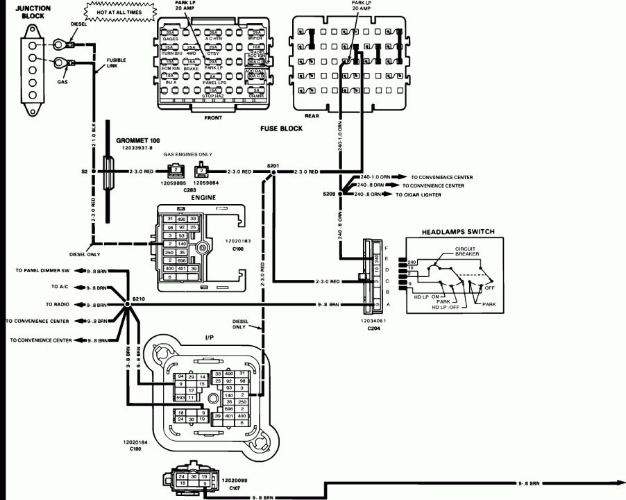 1990 Chevy Truck Fuse Box Diagram and Jimmy Fuse Box - Wiring Diagrams en  2020 | Informática, 90sPinterest