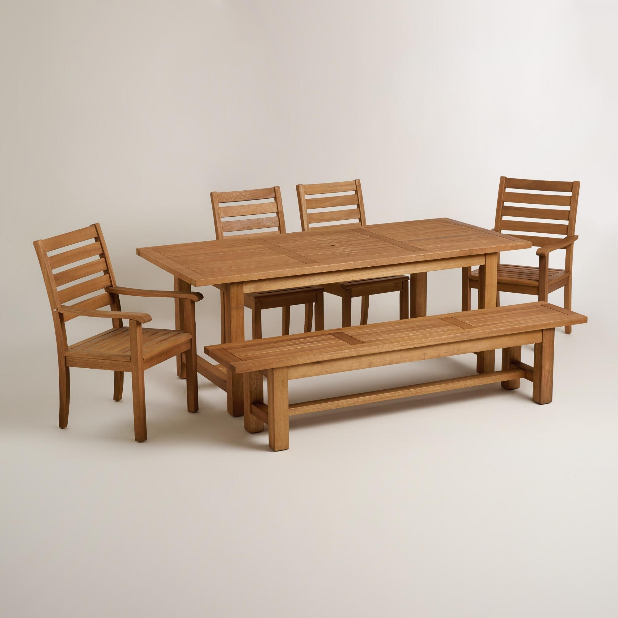 With A Dining Table Bench Side Chairs And Armchairs