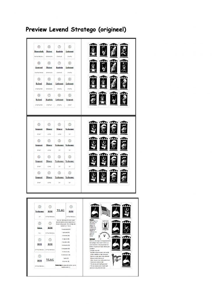 Goede Levend stratego kaartjes (origineel) (met afbeeldingen) BU-78