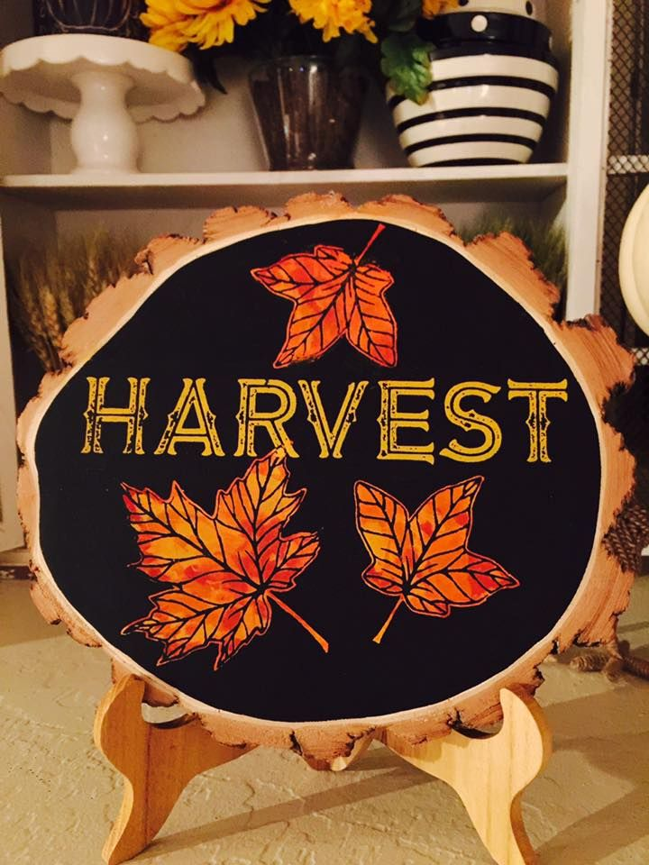 chalk couture harvest decor for the fall on wood chalkcouture via smith sisters - Harvest Decor