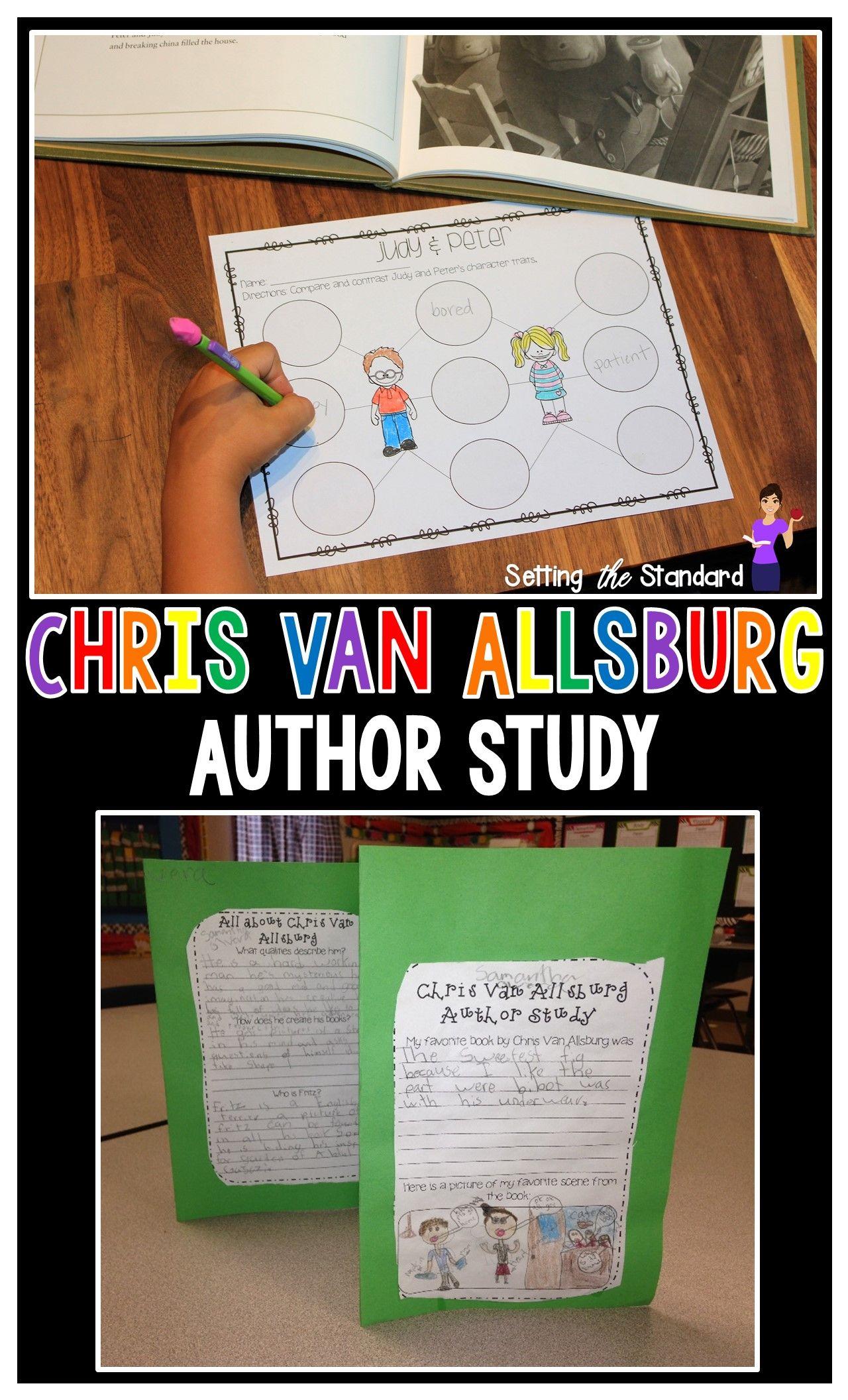 Chris Van Allsburg Author Study With Polar Express With
