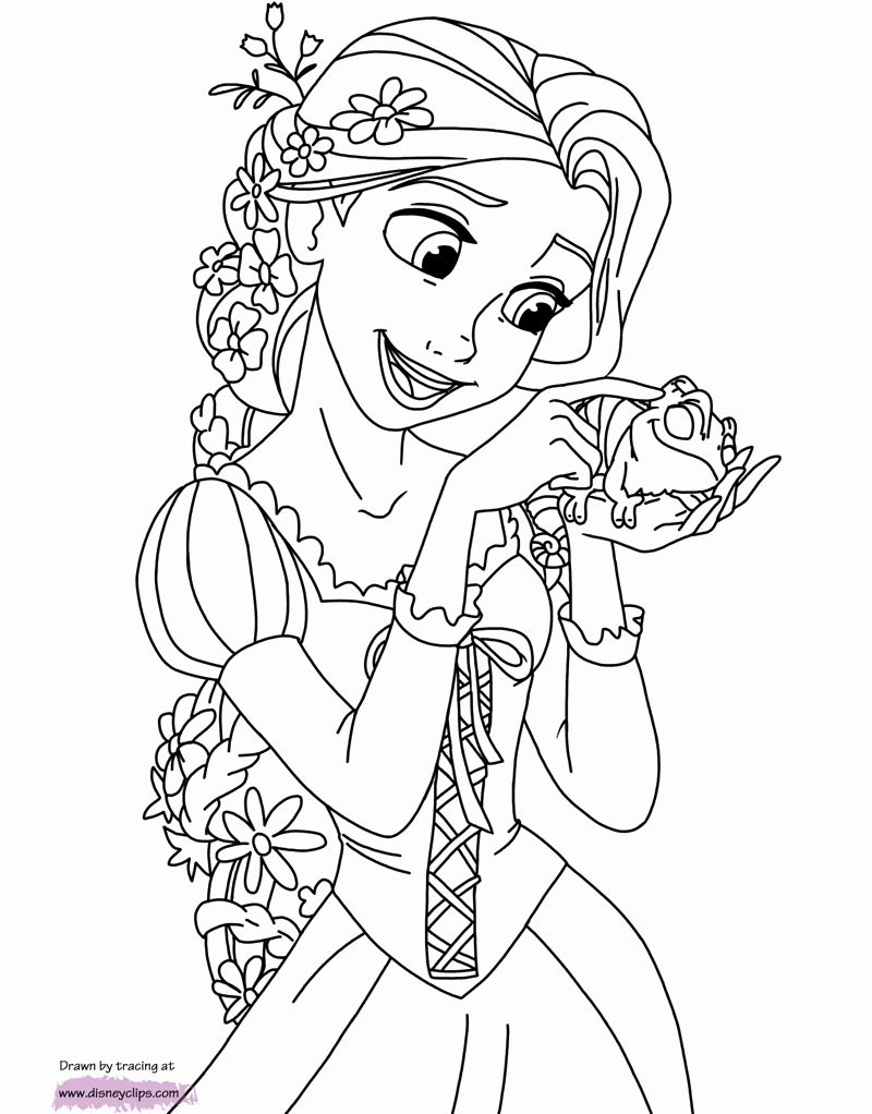 Print Out Coloring Pages Disney in 2020 Rapunzel