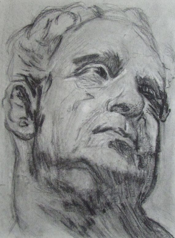 Head Study Copy Of Old Master Drawing By Hemlockhut On Etsy Old