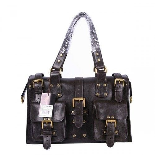 6514efd973 Great Mulberry Women Roxanne Leathers Rectangle Tote Bag Chocolate ...
