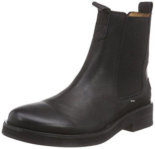 Mid Heel, Chelsea Boots Femme, Schwarz (Black), 42 EUMarc O'Polo