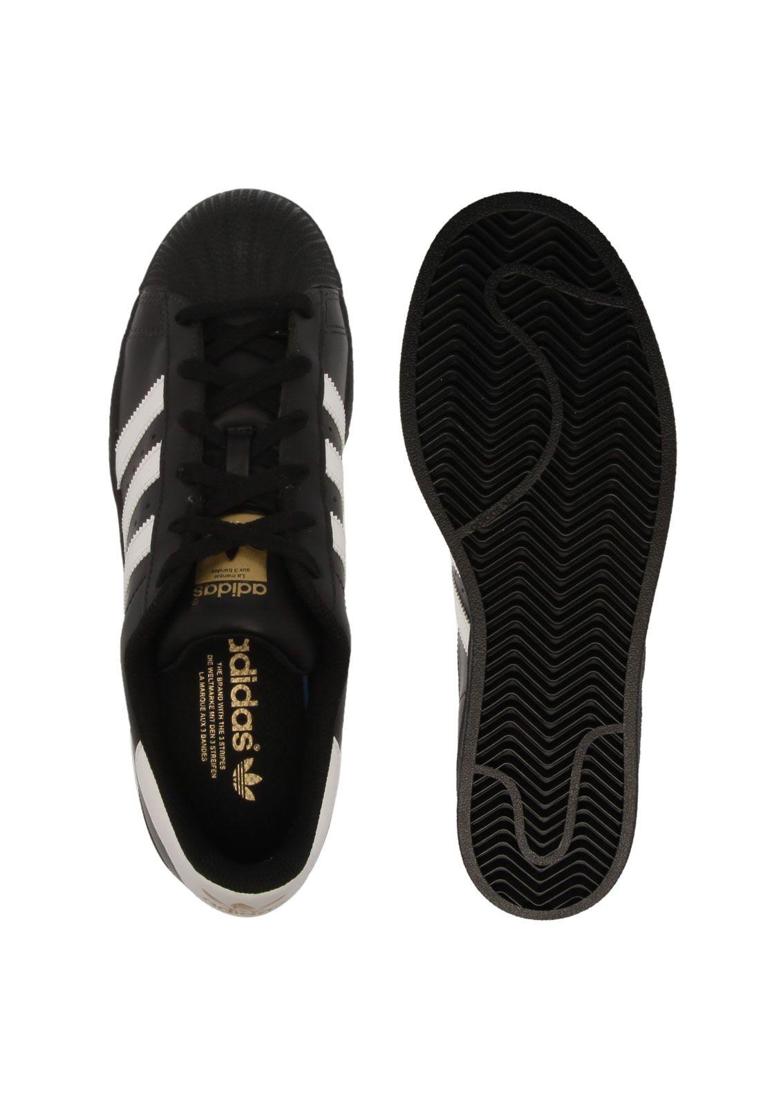 Tênis adidas Originals Superstar Foundat Preto   Tenis