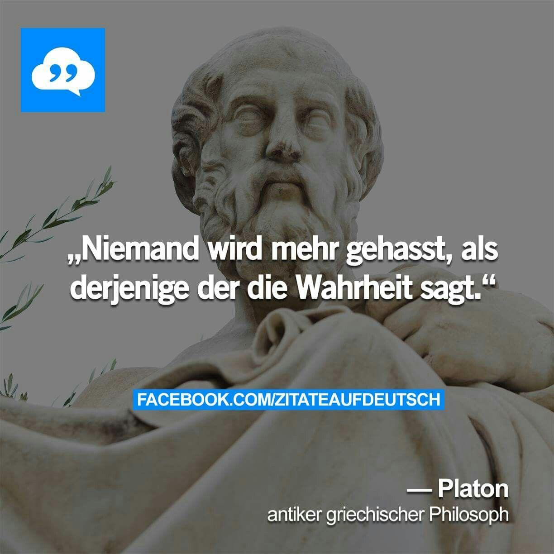 Platon Griechische Philosophen Zitate Wahrheit