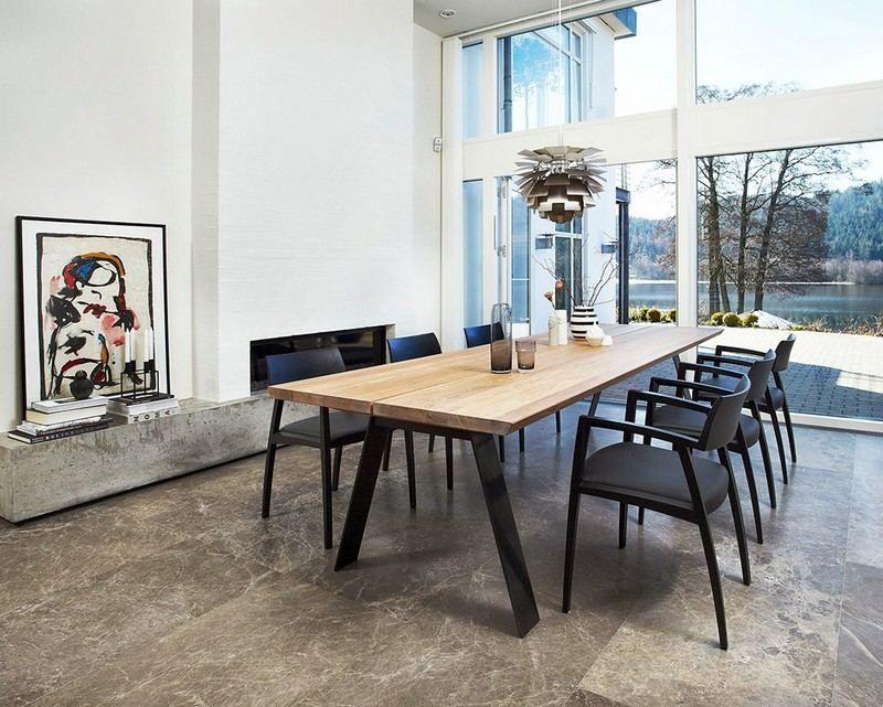 Table Et Chaise Noir Et Bois