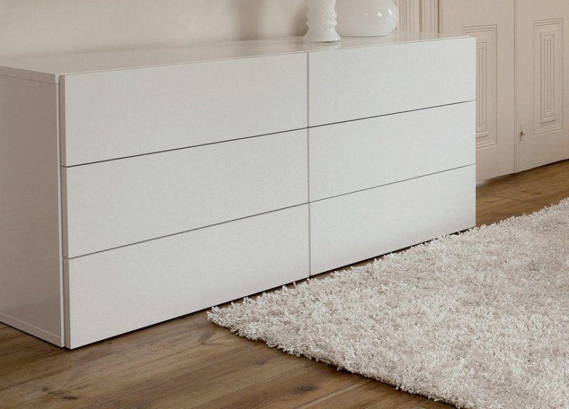 Commode 6 portes blanc laqué, dim : 180 * 82 * 53 | Little bedroom ...