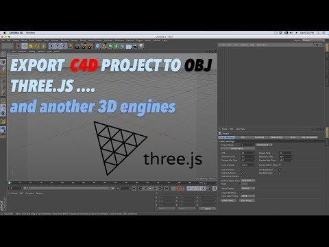 How to export Cinema 4D to obj file for 3D engines or library like