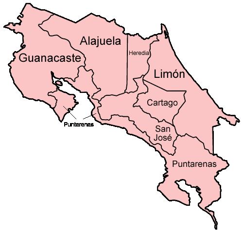 Soubor Costa Rica Provinces Named Png Wikipedie Costa Rica Costa Rica Destinations Tortuguero National Park
