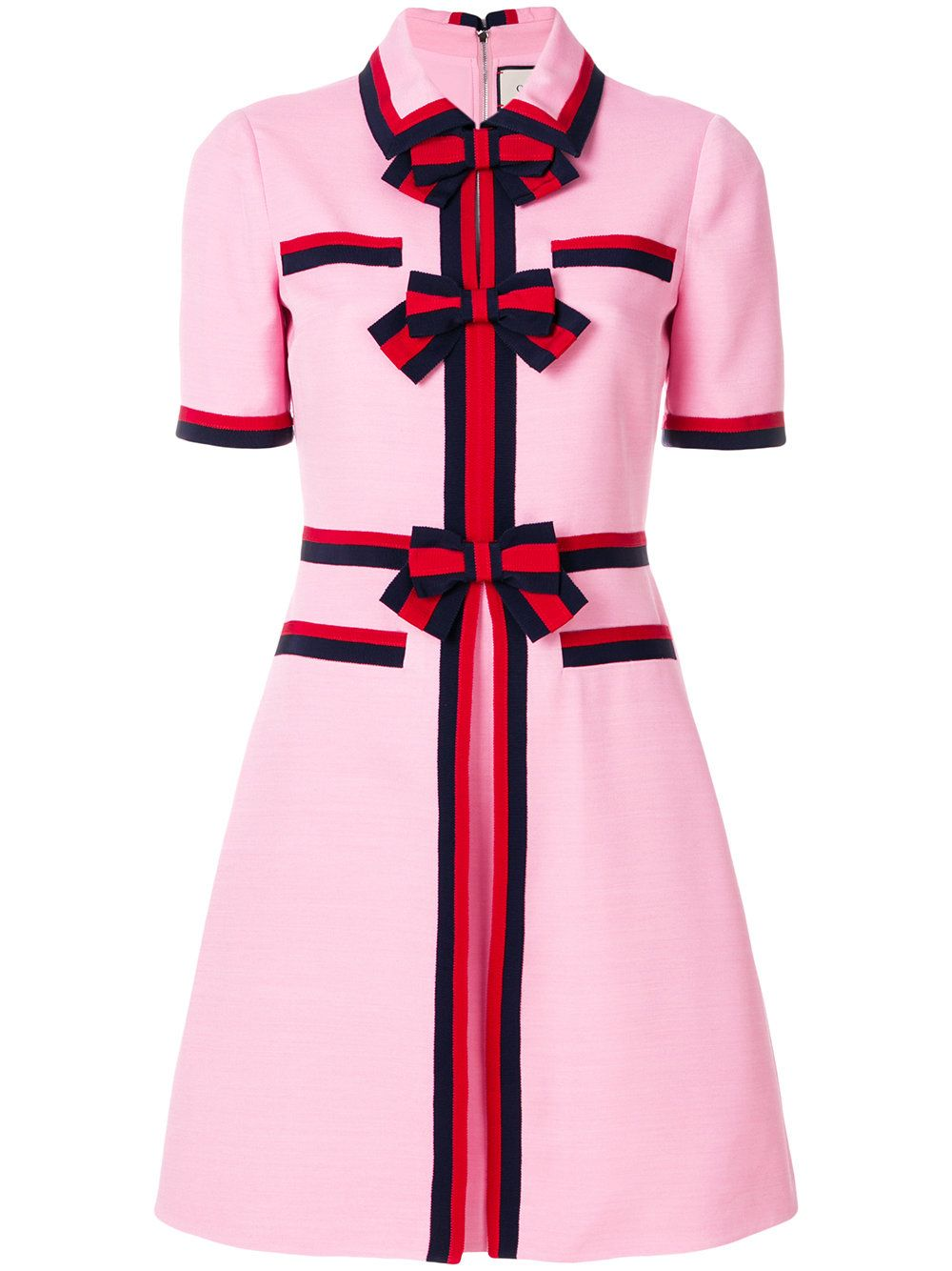 Gucci Web Stripe Bow Dress In Pink  ModeSens  Gucci kleider