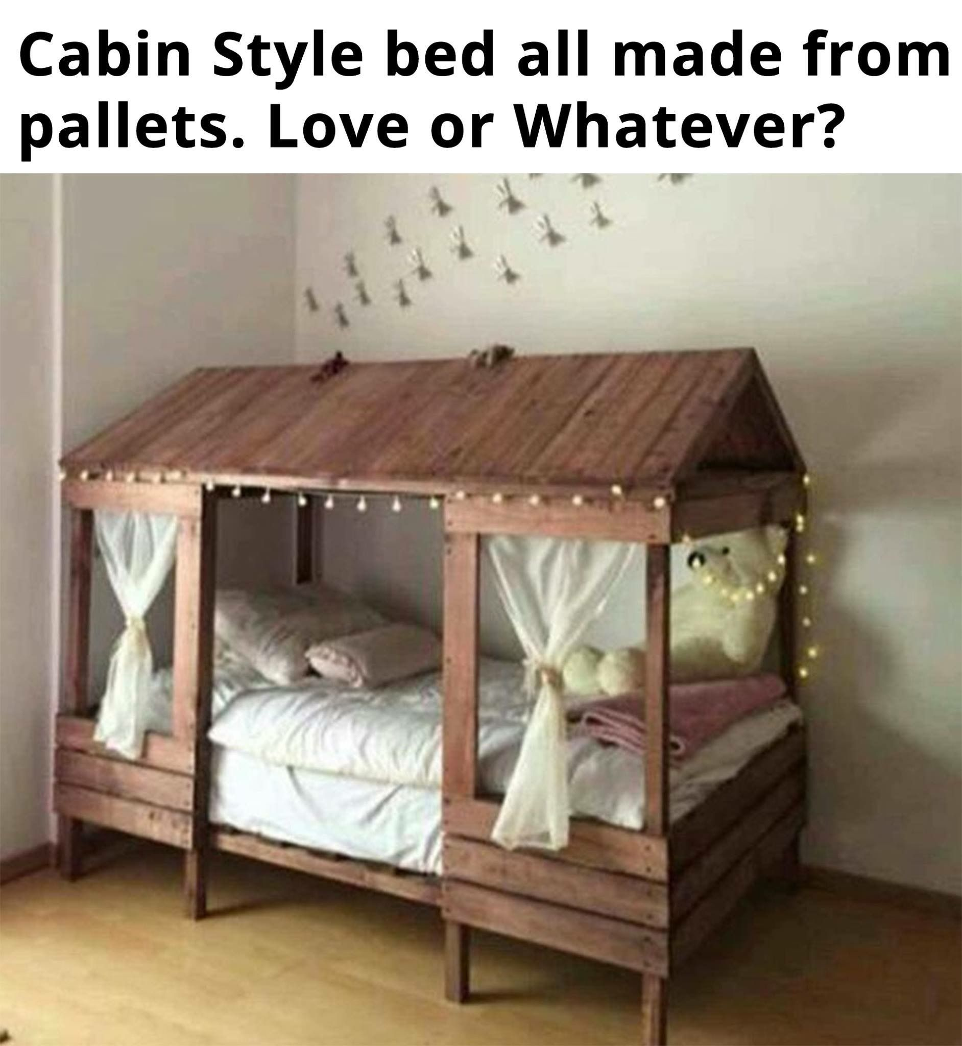 Love this idea for a toddler bed. Looks simple enough to