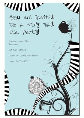 I like this invitation too Alice in Wonderland Party Ideas