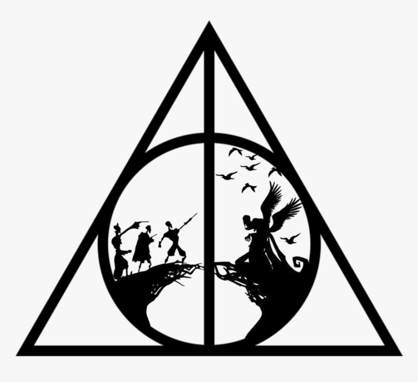 Png Images In Collection Harry Potter Deathly Hallows Logo Transparent Png Is Free Transp Harry Potter Silhouette Harry Potter Symbols Harry Potter Drawings