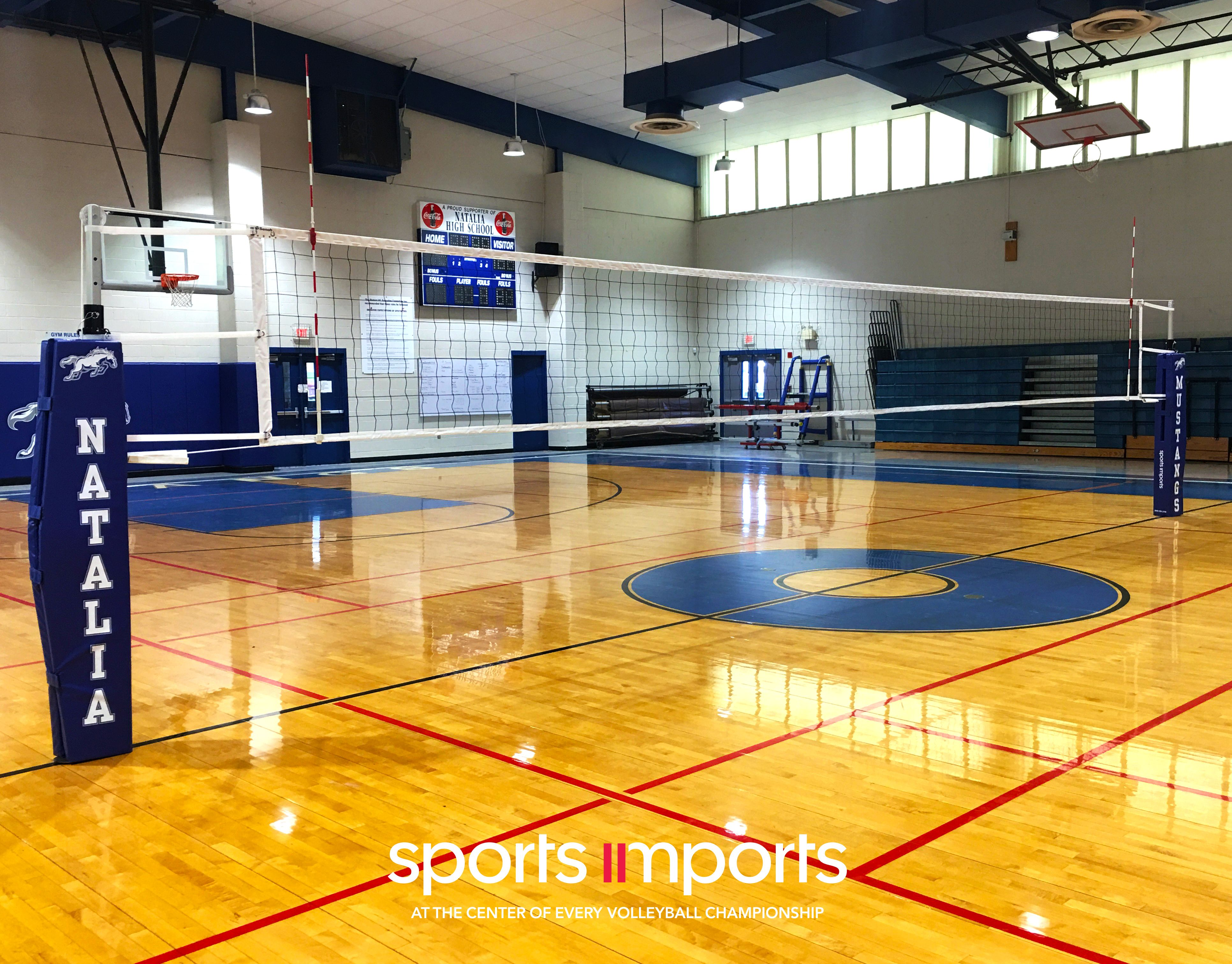 Natalia High School In Texas Indoor Basketball Court Volleyball Net Outdoor Volleyball Net