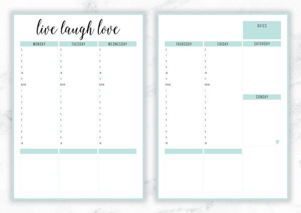 free printable irma live laugh love weekly planner by eliza ellis