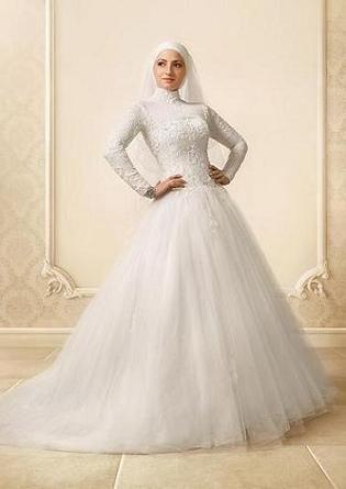 wedding dress with hijab