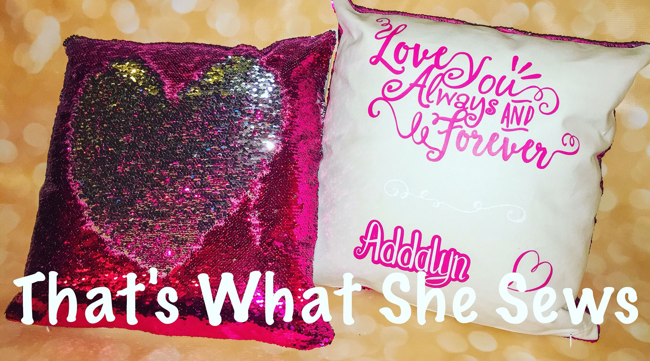 Mermaid Reversible Sequin Pillows Customized With Names And Favorite Quotes 50 Unique Items Products Mermaid Pillow Personalized Gifts