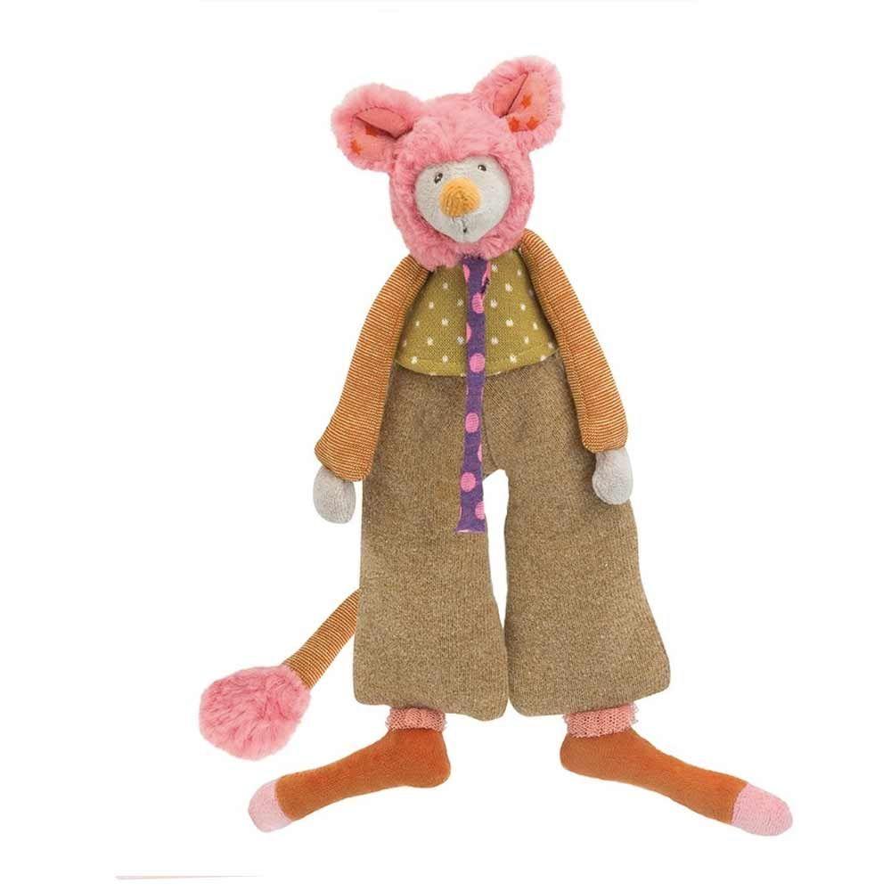 Minus est une jolie petite souris de la famille des Tartempois. De magnifiquesvêtements, de belles matières, un joli minois entouré d'une fourrure toute douce, elle est tout droit sortie d'un pays fantastique.    Une petite souris qui se glissera facilement dans la poussette pour de tendres câlins.    H: 28 cm.   33,00 € http://www.lafolleadresse.com/peluches-et-doudous/3369-minus-la-souris-famille-les-tartempois-de-moulin-roty.html