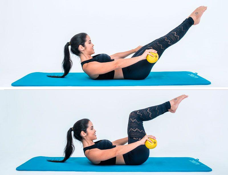 exercicios de pilates bola e solo