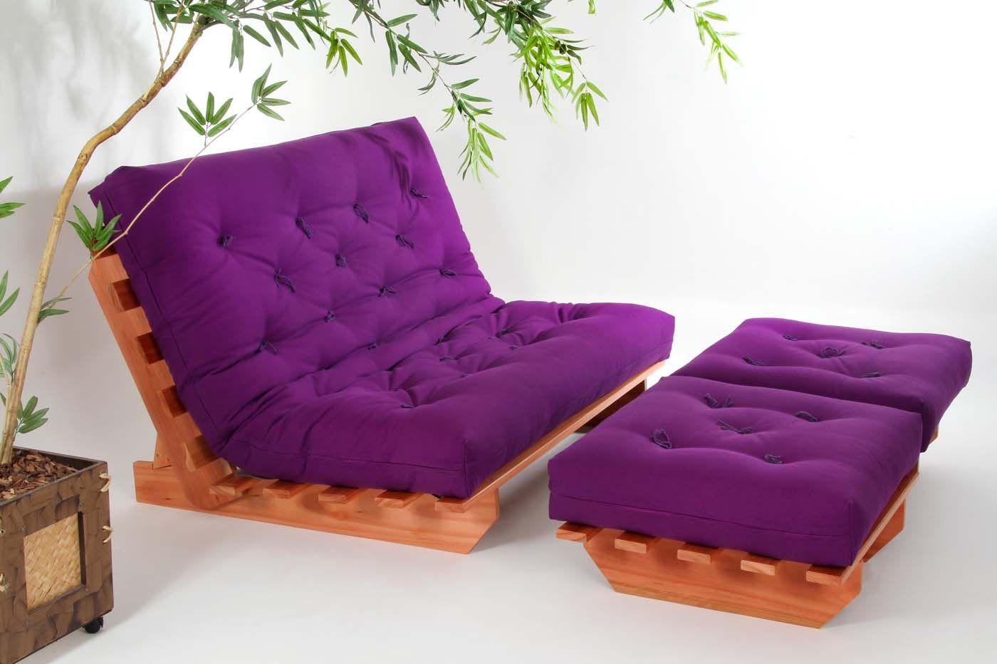 Sof cama futon modelo indiano casal tecido 100 algod o - Sofas cama futon ...