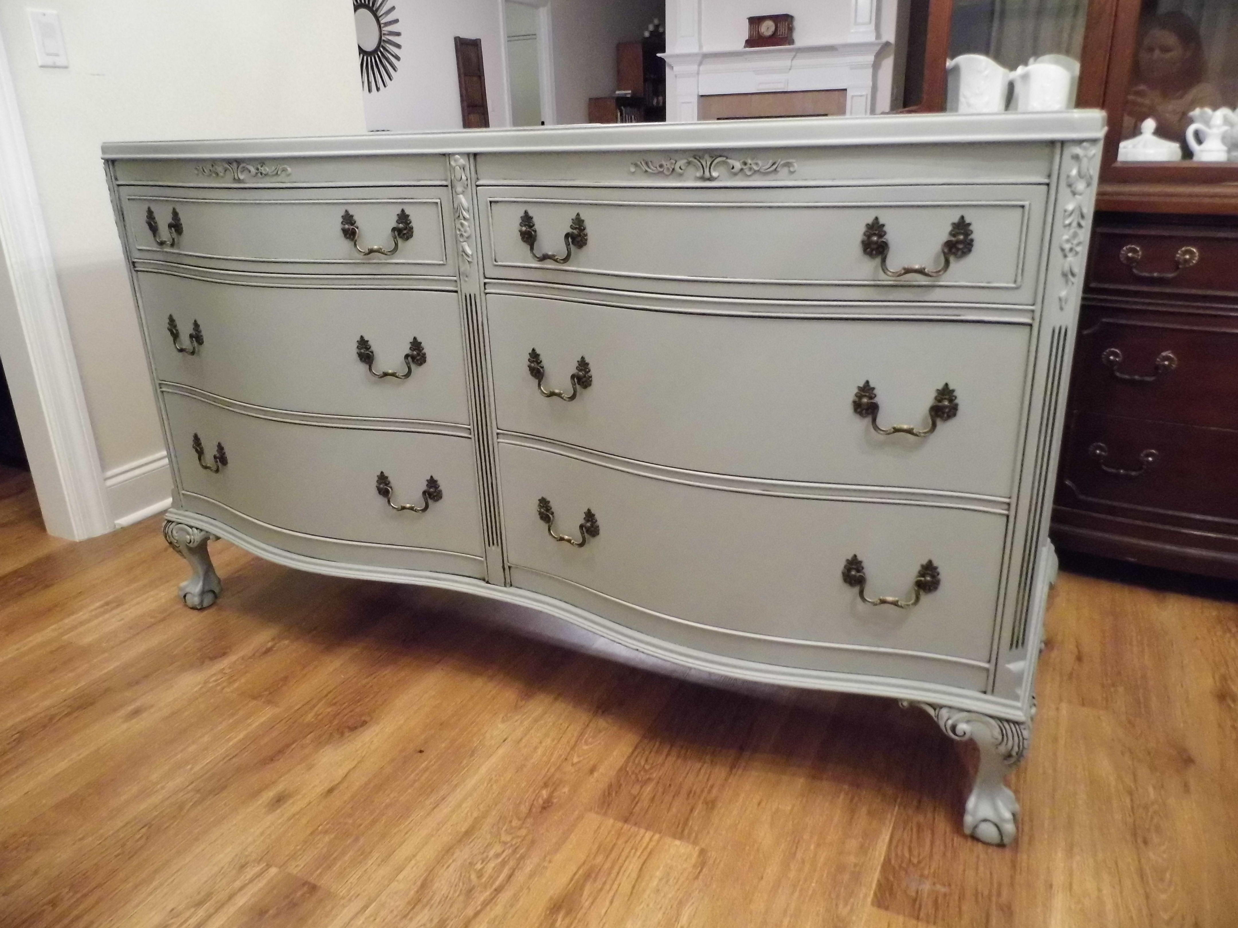 Vintage Grey Dresser Sideboard Grey Furniture Master Bedroom Bathroom [ 3240 x 4320 Pixel ]