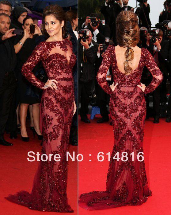 Baylis  Knight Red on Red LACE Princess Kate Middleton Long