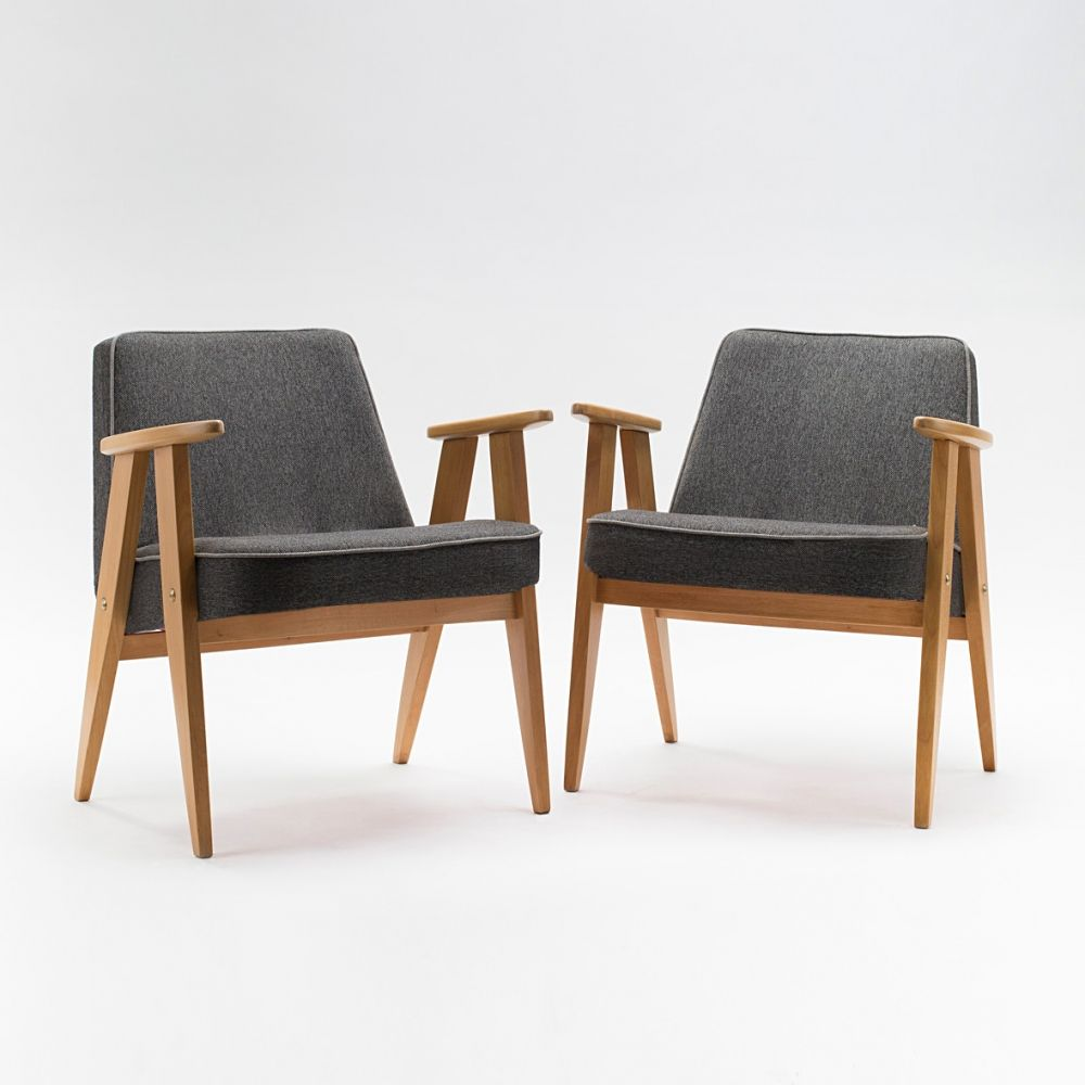 Pair of type 366 armchairs by J. Chierowski | Armchair ...