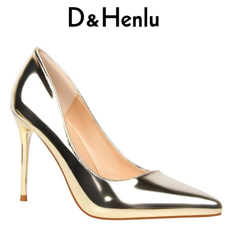 5065b8818e94 2018 Woman s Shoes Women s Pumps Pointed Toe High Heel Stiletto Classic  Pumps Silver Closed Toe Pumps Prom Shoes White