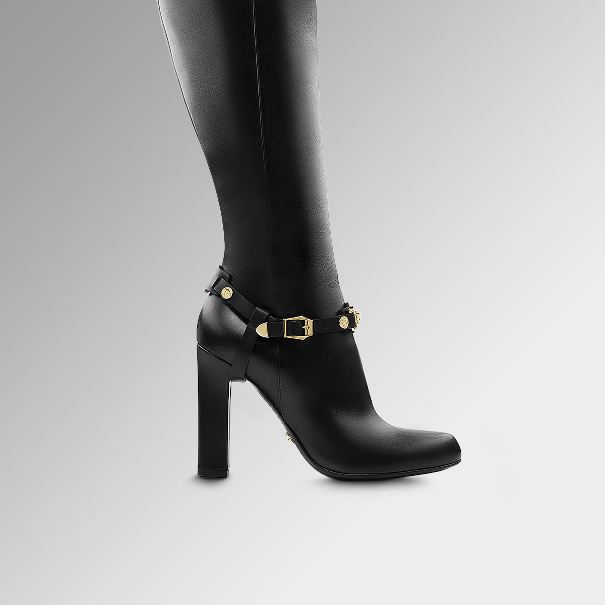Elevate your outfit with these #VersaceSignature high boots. Find more accessories from the #Versace FW15 collection on versace.com