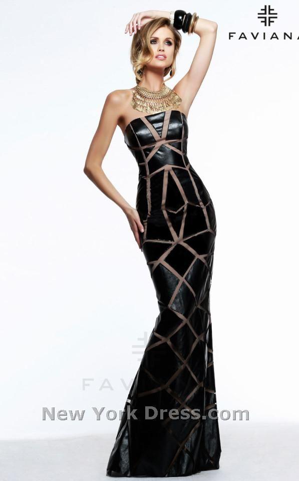Faviana 7569 Evening Fashion Pinterest Neckline Bald