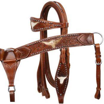 DARK BROWN Western Leather Bridle /& Reins Set w// Steer Head Conchos! NEW TACK!!