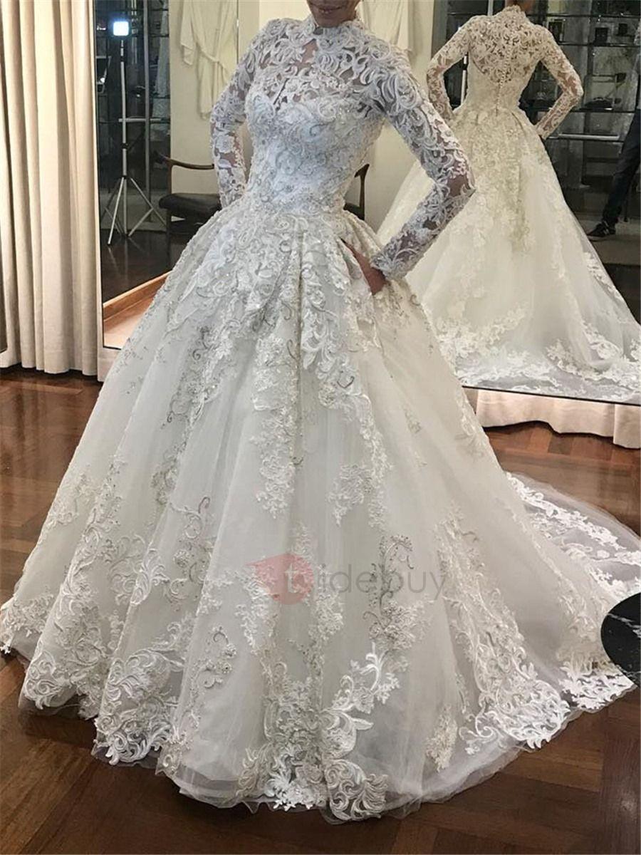 Tidebuy Com Offers High Quality Vintage High Neck Appliques Muslim Wedding Dress We H Long Sleeve Wedding Dress Lace Wedding Dress Long Sleeve Wedding Dresses [ 1200 x 900 Pixel ]
