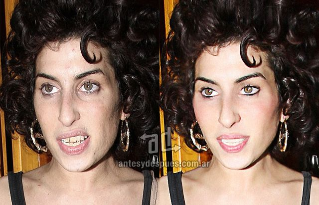 20 Celebrities Without Photoshop Photoshop Amy Winehouse