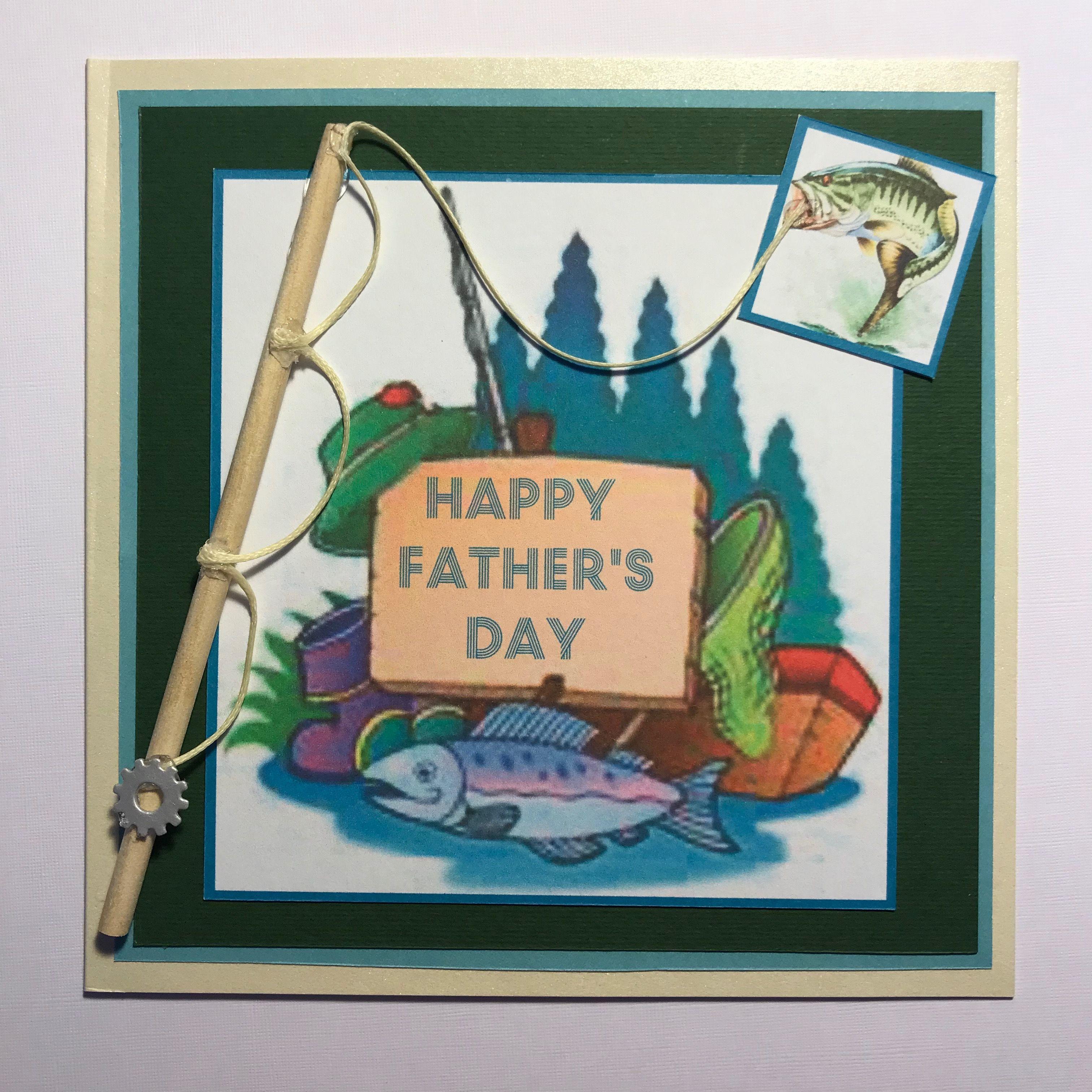 Fishing themed fathers day card kardsbykan fishing