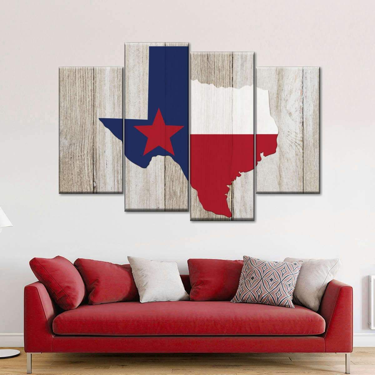 Texas State Map Multi Panel Canvas Wall Art Texas Wall Art Texas Home Decor Texas Bedroom Decor