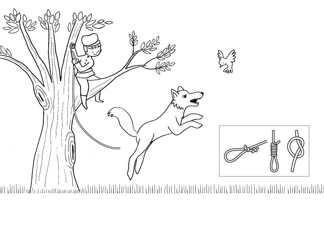 Ausmalbild Märchen Peter Und Der Wolf Zum Ausmalen Kostenlos