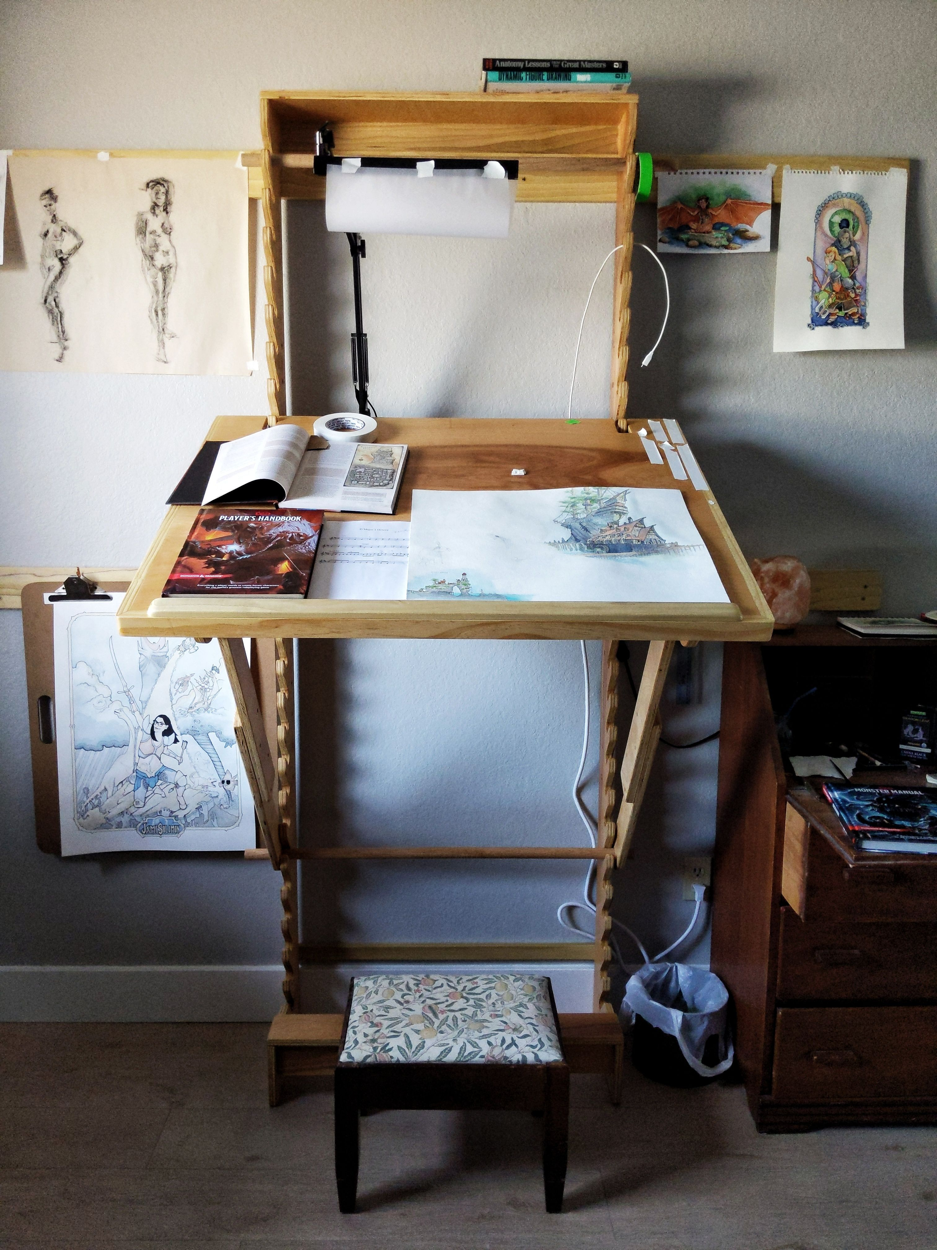 Brilliant Diy Art Desk With Adjustable Height And Angle Cool Things Download Free Architecture Designs Embacsunscenecom