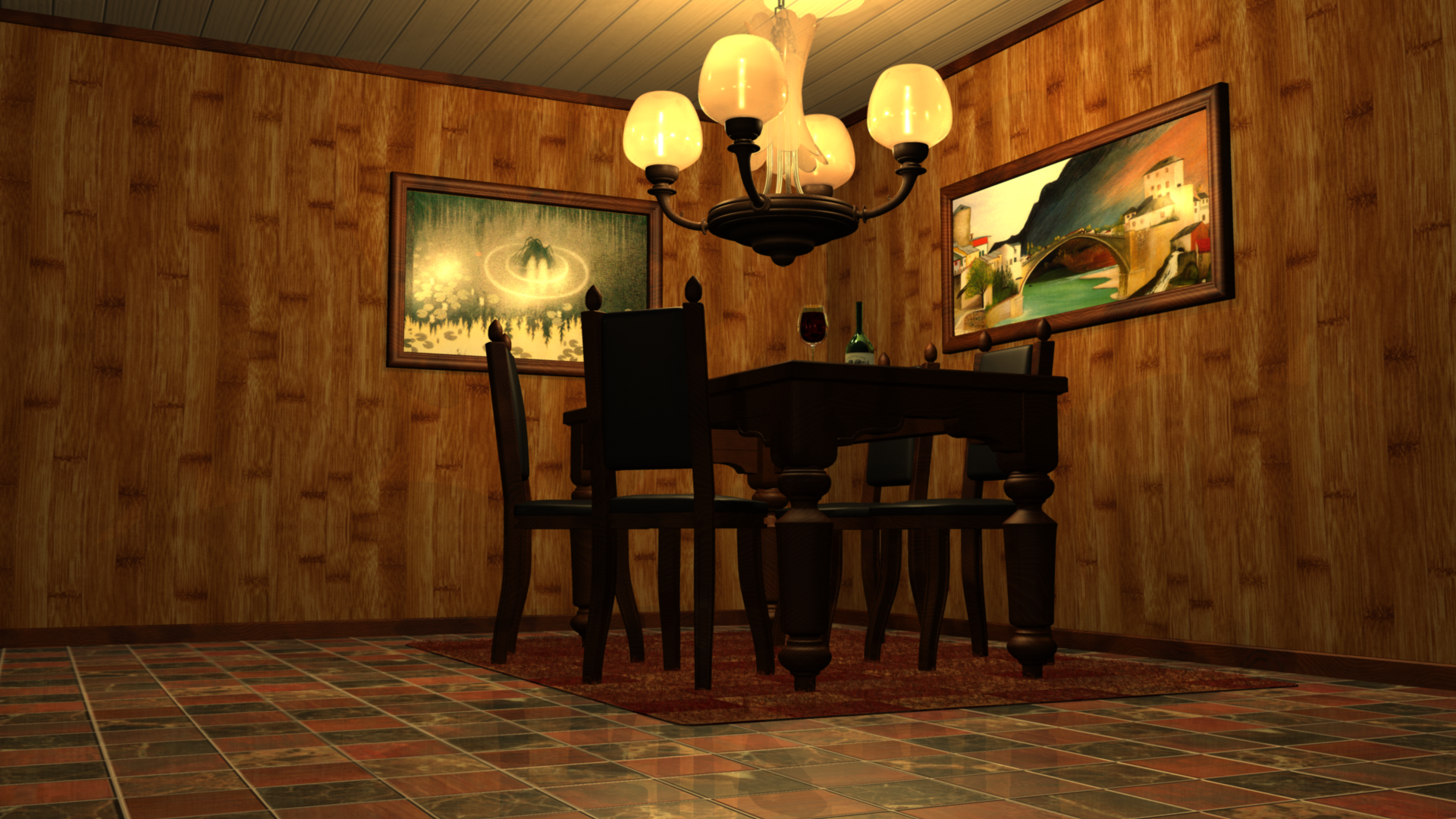 Classic Dining Room Layout With Virtual 3D Picture Using Free Online Design Software Amazing
